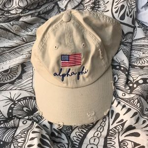 alpha phi distressed ball cap